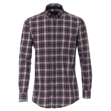 CASA-MODA LEISURE CHECK SHIRT - BLUE