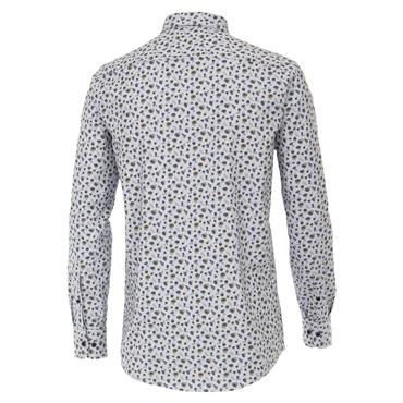 CASA-MODA OXFORD PRINT SHIRT - BLUE