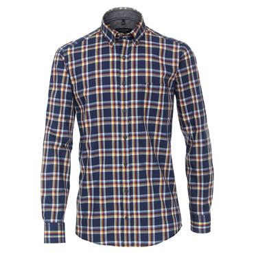 CASA MODA BUTTON DOWN CHECK SHIRT - BLUE