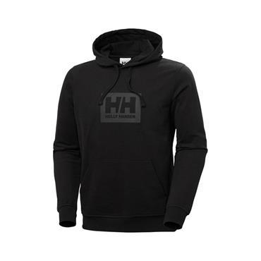 HELLY HANSEN BOX HOODIE - BLACK