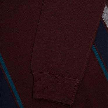 REMUS UOMO 1/2 ZIP TURTLE NECK - BURGUNDY