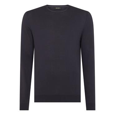 REMUS UOMO CREW NECK SWEATER - NAVY