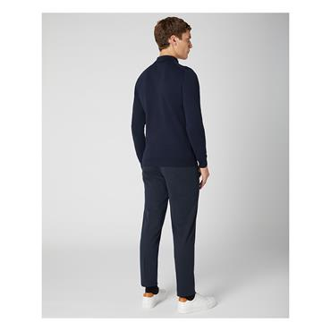 REMUS UOMO KNITTED POLO SHIRT - NAVY