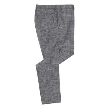 REMUS UOMO SANTIGO CHECK TROUSER - GREY