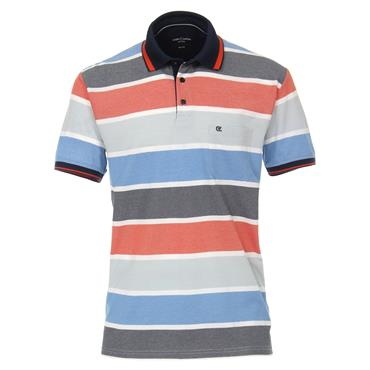 CASA-MODA PATTERN POLO SHIRT - ORANGE
