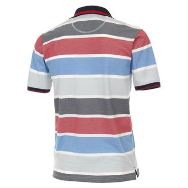 CASA-MODA PATTERN POLO SHIRT - RED