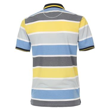 CASA-MODA PATTERN POLO SHIRT - YELLOW