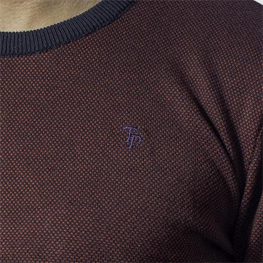 TOM PENN BONNER CREW NECK - RED