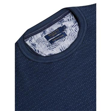 BENETTI CARLO ROUND NECK JUMPER - BLUE