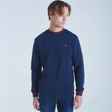 DIESEL ALLEN CREW NECK SWEATER - NAVY
