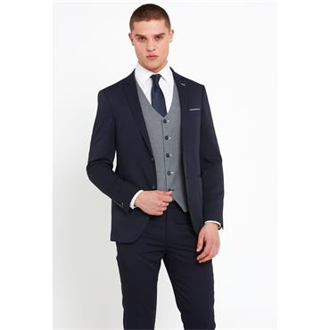 TRAVIS LOUIS SLIM FIT SUIT - NAVY