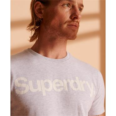 SUPERDRY BOLD CORE LOGO T-SHIRT - GREY