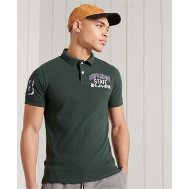 SUPERDRY CLASSIC SUPERSTATE S/S POLO - GREEN