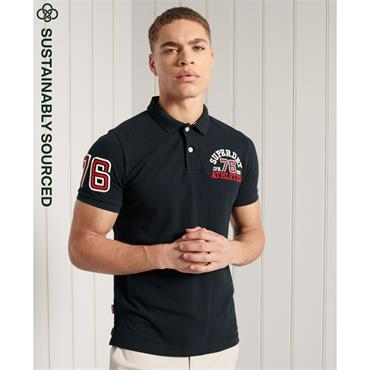 SUPERDRY CLASSIC SUPERSTATE S/S POLO - NAVY