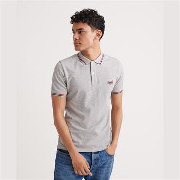 SUPERDRY CLASSIC MICRO POLO SHIRT - GREY