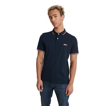 SUPERDRY CLASSIC MICRO POLO SHIRT - NAVY
