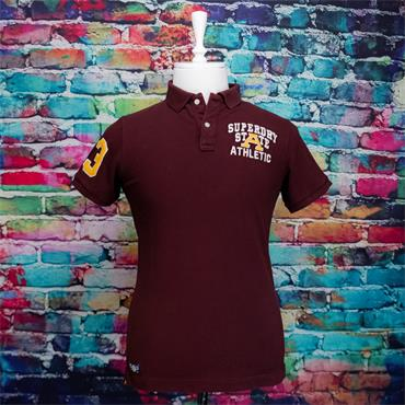 SUPERDRY SUPERSTATE POLO - BURGUNDY