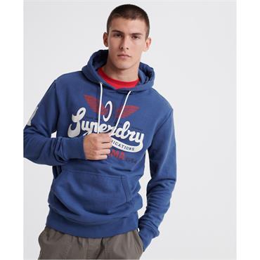 SUPERDRY HIGHWAY HOODIE - BLUE
