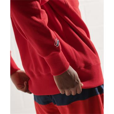 SUPERDRY SPORTSTYLE ESSENTIAL CREW - RED
