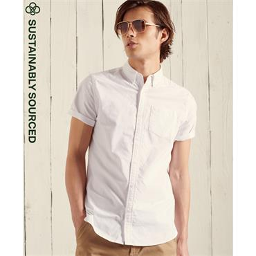 SUPERDRY SHORT SLEEVE OXFORD SHIRT - WHITE