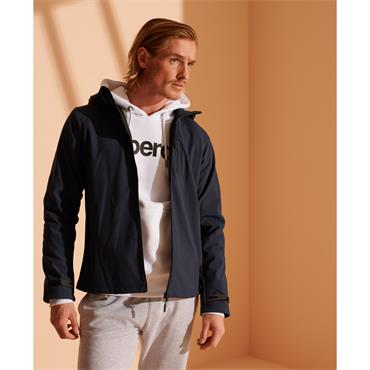 SUPERDRY HOODED SOFTSHELL JACKET - NAVY