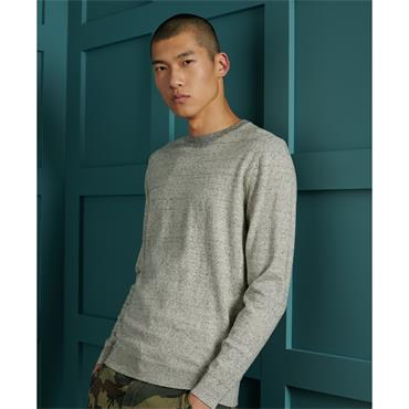 SUPERDRY ORANGE LABEL CREW KNIT - GREY