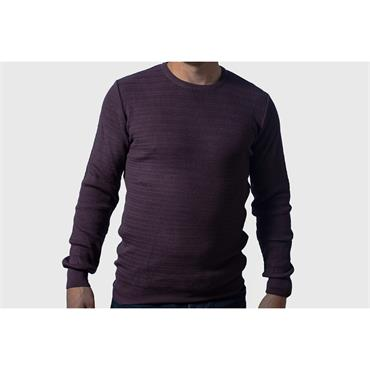 TOM PENN MCHUGH CREW NECK - PURPLE