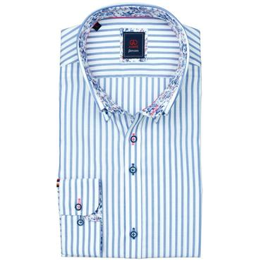 ANDRE OLIVER LONG SLEEVE SHIRT - BLUE