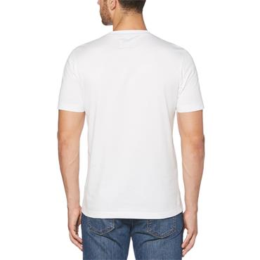 PENGUIN PIN POINT EMROIDERY T-SHIRT - WHITE