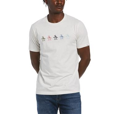 PENGUIN GRAPHIC EMBROIDERY PETE T-SHIRT - GREY