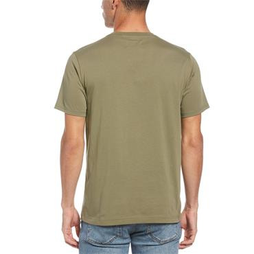 PENGUIN PIN POINT EMBROIDERY T-SHIRT - GREEN