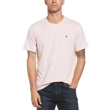 PENGUIN PIN POINT EMBROIDERY T-SHIRT - PINK