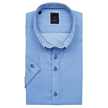 ANDRE RON SHORT SLEEVE SHIRT - BLUE