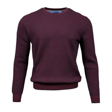 ANDRE RUSH O-NECK KNIT - BURGUNDY