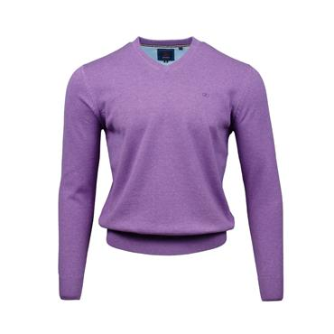 ANDRE VALENCIA V-NECK JUMPER - PURPLE