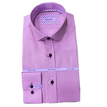WHITE LABEL TAPERED FIT SHIRT - PINK