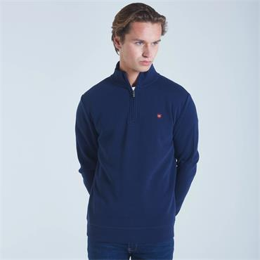 DIESEL ROY HALF ZIP KNIT - NAVY