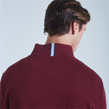 DIESEL ROY HALF ZIP KNIT - WINE