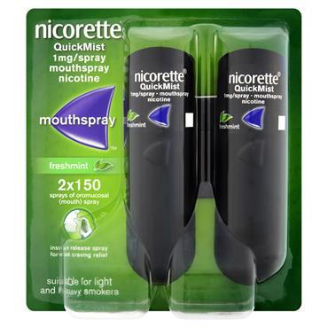 Nicorette Quickmist Fresh Mint Double 2 X 1Mg