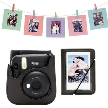 Instax Mini 11 Accessory Kit – Charcoal-Gray 3 Piece Gift Set