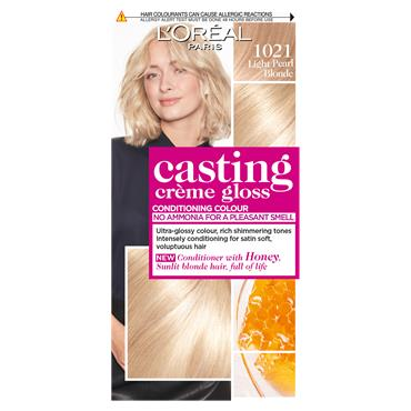 L'Oreal Paris Casting Creme Gloss 1021 Light Pearl Blonde Semi Permanent Hair Dye