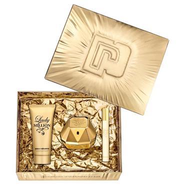 Paco Rabanne Lady Million 80ml Eau de Parfum + 100ml Body Lotion + 10ml Travel Spray Gift Set