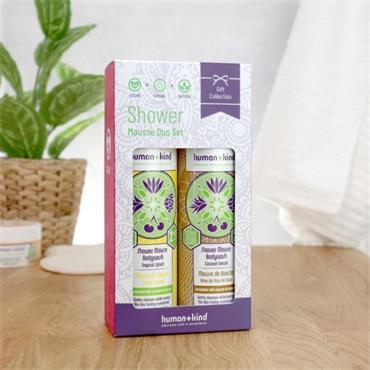 Human + Kind Shower Mousse Duo Coconut & Tropical Splash