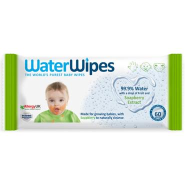 Waterwipes Soap Berry Gentle All Over Wipes (60 Wipes)