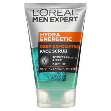 L'Oreal Paris Men Expert Hydra Energetic Deep Exfoliating Face Scrub 100ml