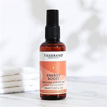 Tisserand Energy Boost Massage & Body Oil 100ml