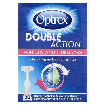 Optrex Double Action Rehydrating And Lubricating Drops 20 X 0.5Ml Vials