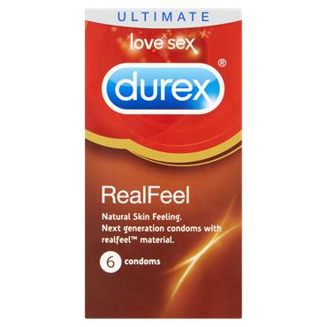 Durex Real Feel Condoms 6 Pack