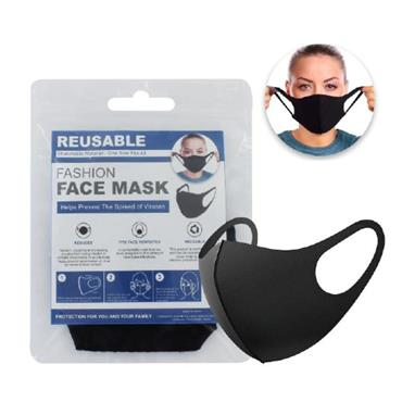 PPE Reusable Face Mask Spandex Black