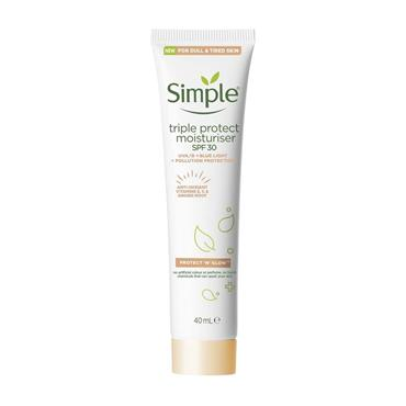 Simple Protect 'n' Glow Triple Protect moisturiser SPF30 40ml